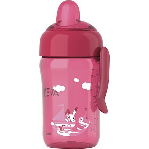 Copo Mágico Decorado com Alça 340ml Rosa Philips Avent