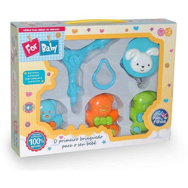 Brinquedo para bebe mobile para berço urso musical unidade - Pais e filhos