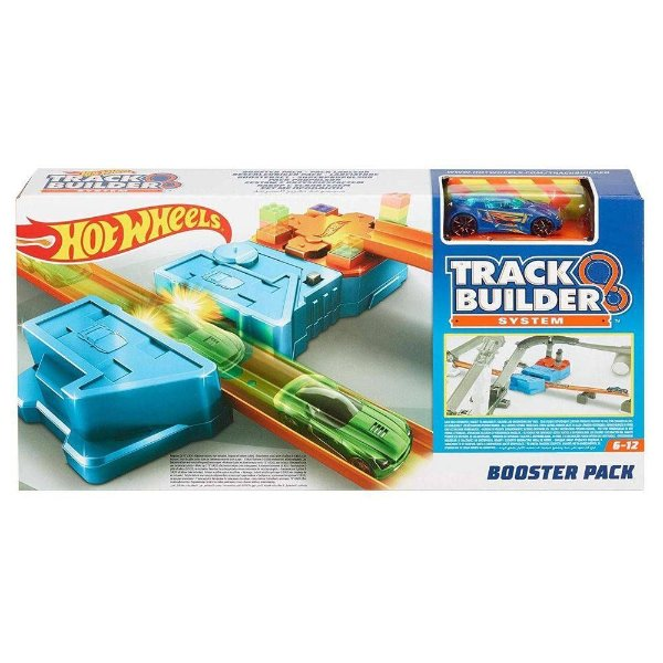 Pista e Veículo - Hot Wheels - Track Builder - Booster Pack - Mattel