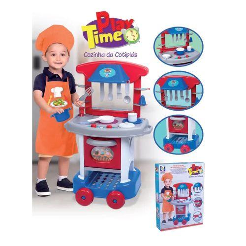 Cozinha Infantil Menino Play Time com Acessórios Cotiplás 2421