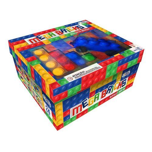 Blocos De Montar Mega Bricks 24 Pecas 2210 Pais E Filhos