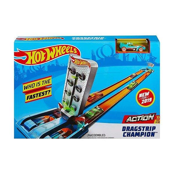 Pista e Veículo - Hot Wheels - Pista Campeonato - Reta - Mattel