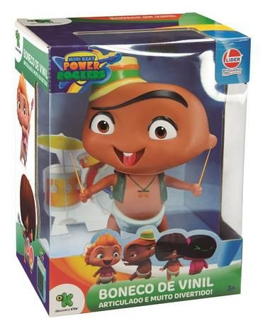 Boneco de Vinil - 17 Cm - Mini Beat Power Rockers - Carlos - Lider