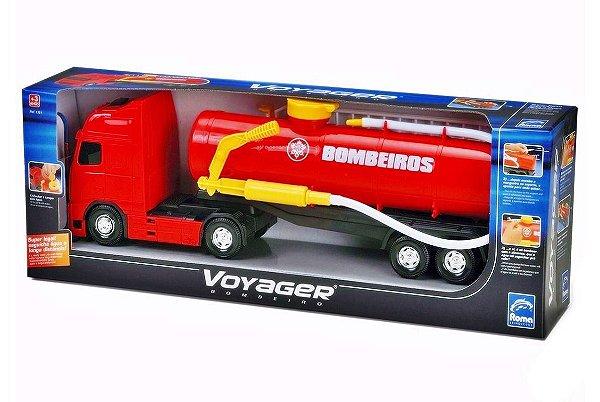 Caminhão Roma Voyager Bombeiro Lança Água De Verdade - Roma Brinquedos