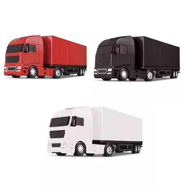 Caminhão Diamond Truck Bau Carreta - Roma Brinquedos -SORTIDO