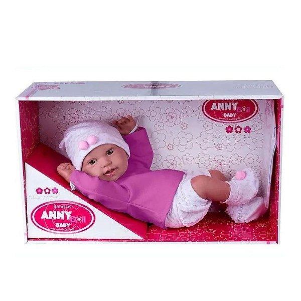 Boneca Bebê - Anny Doll - Baby Menina com Shorts e Blusa - Cotiplás-sortida