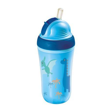Copo Térmico Com Canudo De Silicone Cool Azul 24M+ Multikids Baby - BB034