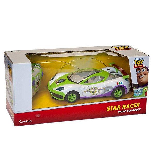 Carro Controle Remoto 3 Funções Toy Story Star Racer - Candide