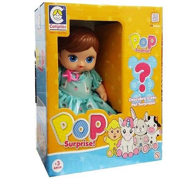 Boneca Pop Surprise Morena Cotiplas
