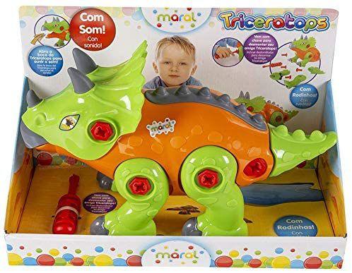 Triceratops com Som - Caixa Maral Multicor