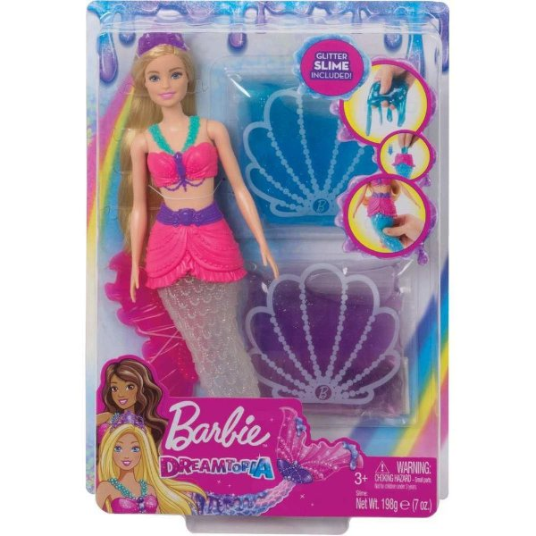 Boneca Barbie Sereia Slime Dreamtopia - Mattel GKT75