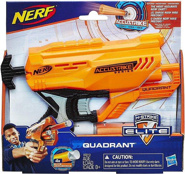 Lança Dardo Nerf Accus Quadrant Hasbro Laranja/Preto/Cinza