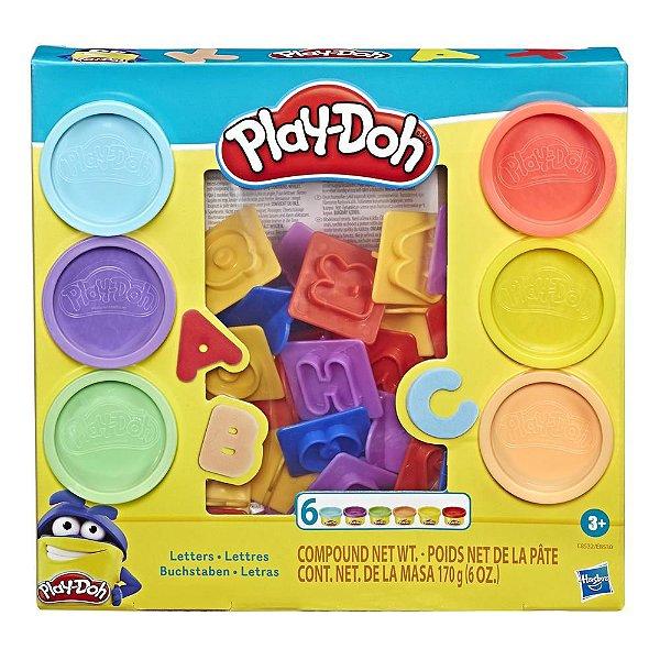 Conjunto Massinha Play Doh Moldes de Letras Hasbro