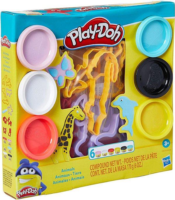 Conjunto de Massinhas - Play-Doh - Moldes de Animais - Hasbro