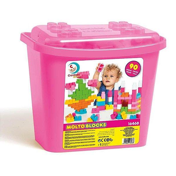 Baby Land - Blocks Box 90 Blocos - Rosa - Cardoso