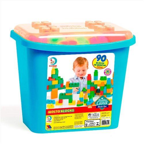 Baby Land - Blocks Box 90 Blocos - Azul - Cardoso
