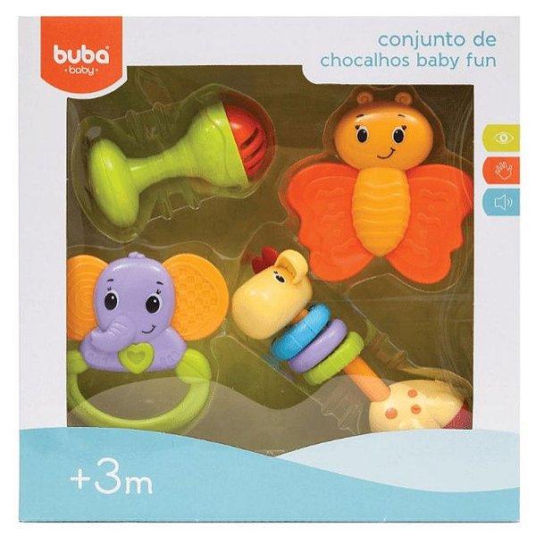 Conjunto De Chocalhos E Mordedores Infantil Baby Buba Full