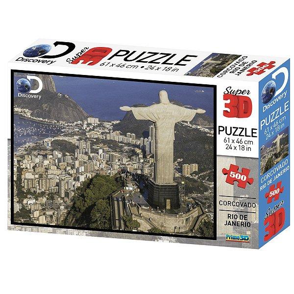 Multikids Quebra Cabeça Super 3D Corcovado Rio de Janeiro 500 Peças