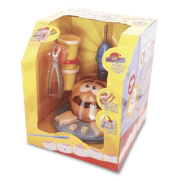 Brinquedo Kit Massinha Modelar Polidoh Dentista Polibrinq