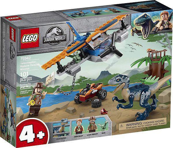 LEGO Jurassic World - Velociraptor: Missão de Resgate com Biplano
