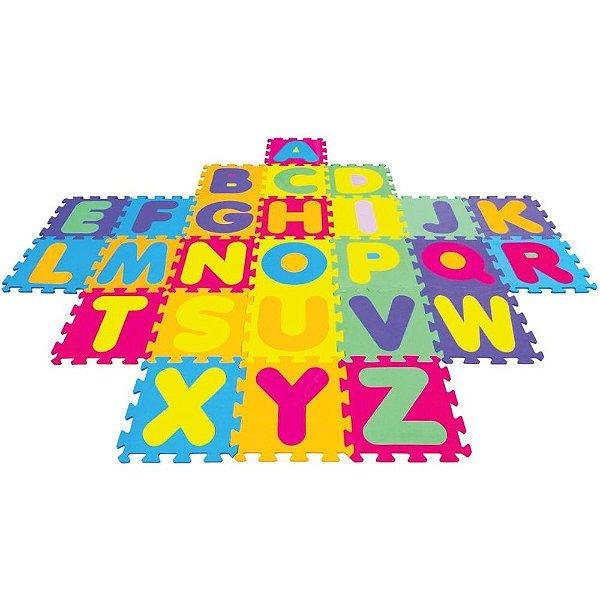Tapete Em E.V.A Alfabeto 28X28 Cm 5mm 26 Peças