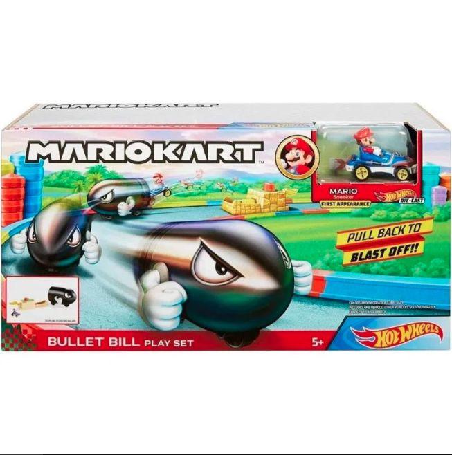 Pista Hot Wheels Mario Kart Lançador Bullet Bill - Mattel