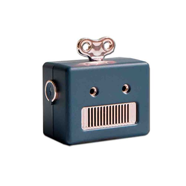 Caixa De Som Bluetooth Azul Serie Robot