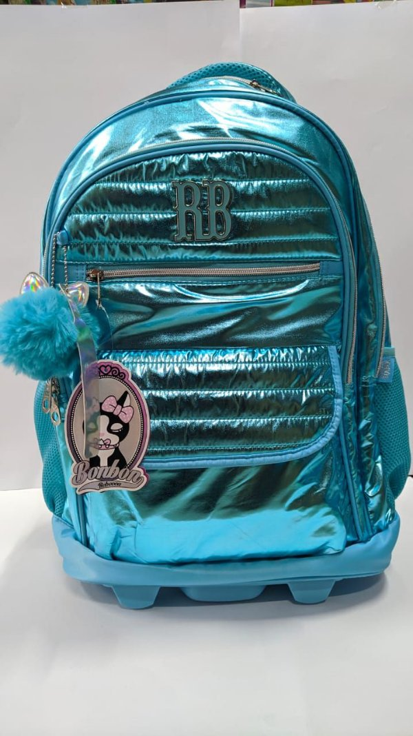 Mochila de Rodinha Rebecca Bonbon 19″  Azul  RB3172