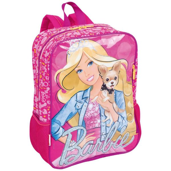 Mochila Escolar Infantil G Sestini de Costas Barbie 16M - Rosa