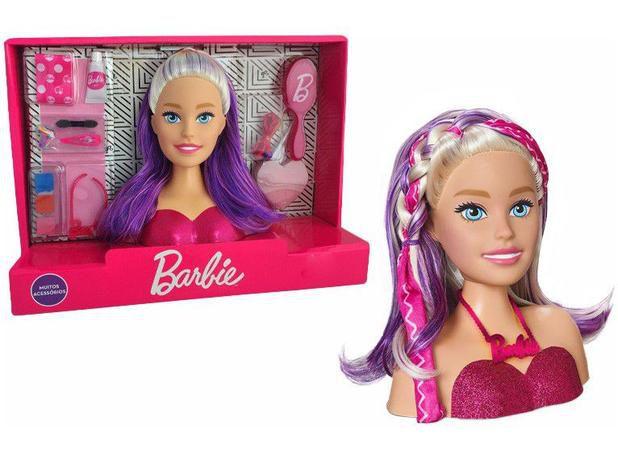 Boneca Barbie Styling Head Faces - com Acessórios Pupee
