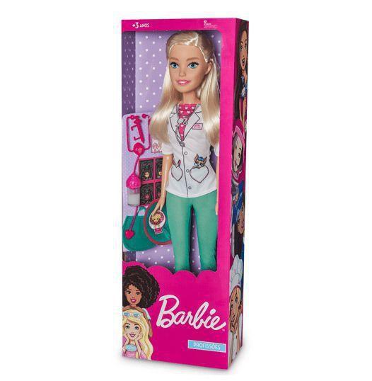 Boneca Barbie Veterinaria 65cm Profissões Large Doll Grande