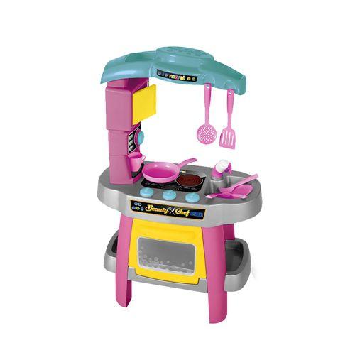 Brinquedo Cozinha Infantil Maral Beauty Chef Rosa