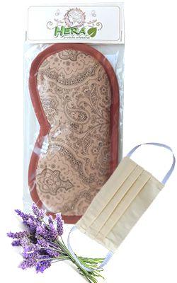 Máscara Aromática de Lavanda Francesa/Alfazema para dormir e relaxar + MÁSCARA GRÁTIS Hera Produto Artesanal