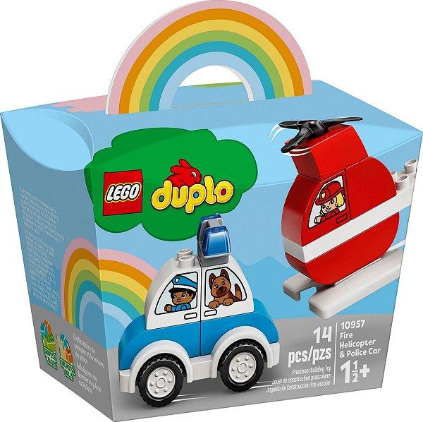 LEGO DUPLO 10957 HELICÓPTERO DOS BOMBEIROS E CARRO DA POLÍCIA