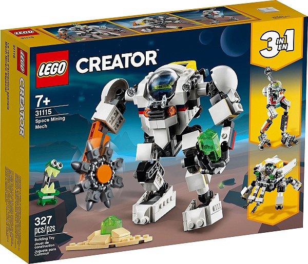 LEGO CREATOR 31115 ROBÔ DE MINERAÇÃO ESPACIAL