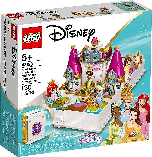 LEGO DISNEY 43193 O LIVRO DE HISTÓRIAS E AVENTURAS DE ARIEL, BELA, CINDERELA E TIANA
