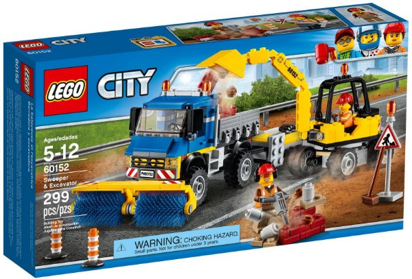 LEGO CITY 60152 SWEEPER E EXCAVATOR