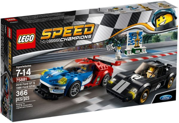 LEGO SPEED CHAMPIONS 75881 2016 FORD GT &1966 FORD GT40