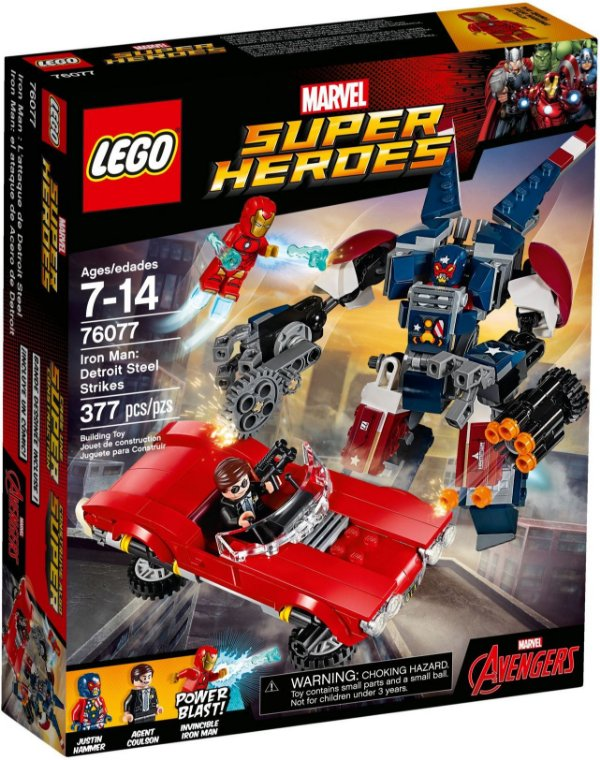 LEGO SUPER HEROES 76077 IRON MAN: DETROIT STEEL STRIKES