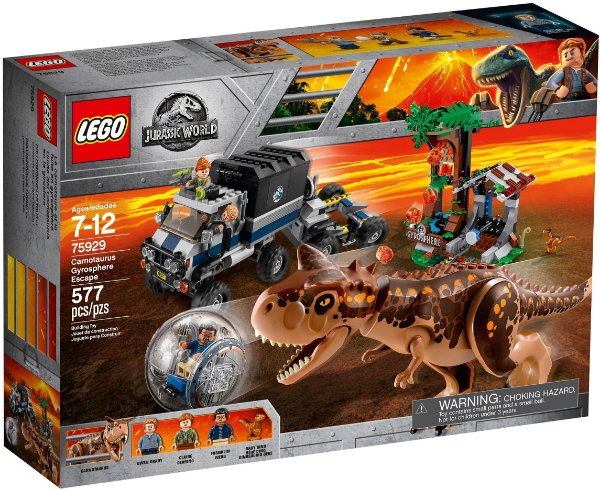 LEGO JURASSIC WORLD 75929 CARNOTAURUS GYROPHERE ESCAPE