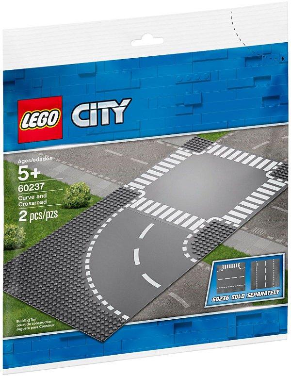 LEGO CITY 60237 PISTAS CURVA E CRUZAMENTO X