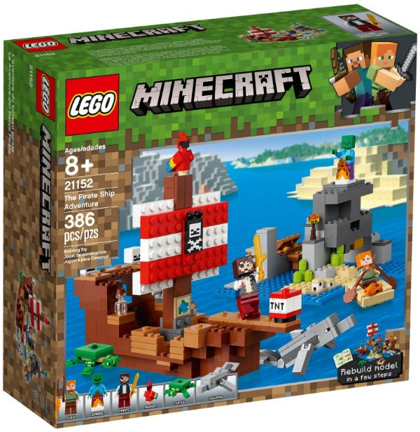 LEGO MINECRAFT 21152 PIRATE SHIP