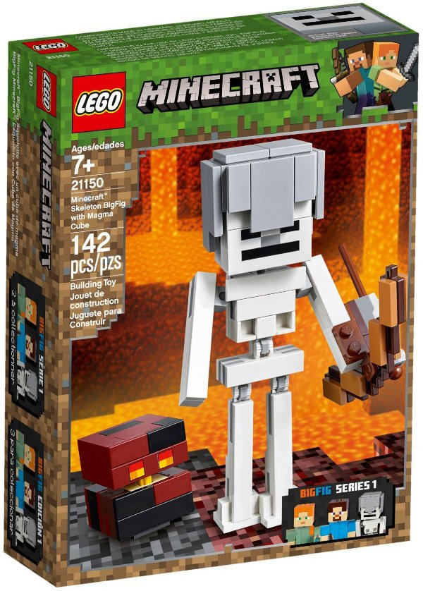 LEGO MINECRAFT 21150 SKELETON WITH MAGMA CUBE