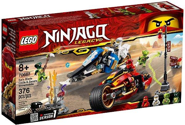 LEGO NINJAGO 70667 KAI'S BLADE CYCLE E ZANE'S SNOWMOBILE