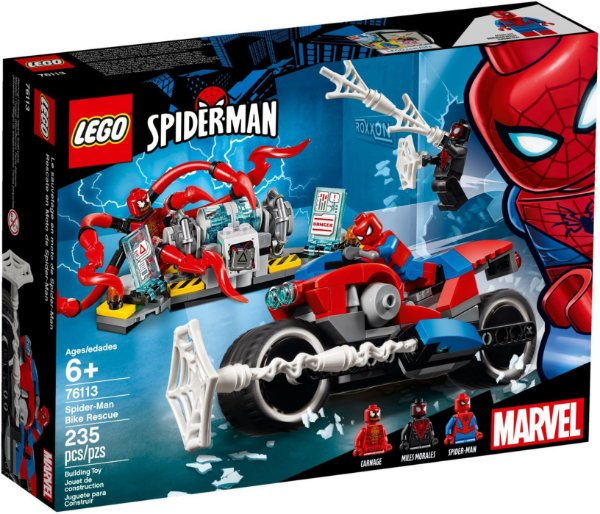 LEGO SUPER HEROES 76113 SPIDER MAN BIKE RESCUE