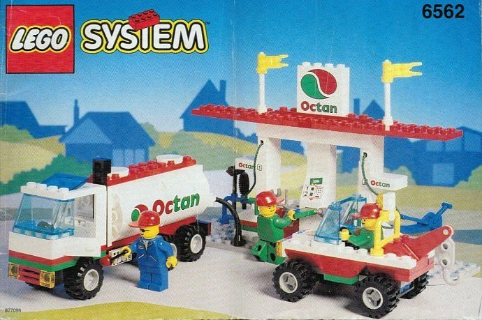 LEGO SYSTEM 6562 GAS STOP SHOP