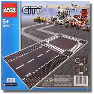 LEGO CITY 7280 STRAIGHT & CROSSROAD PLATES