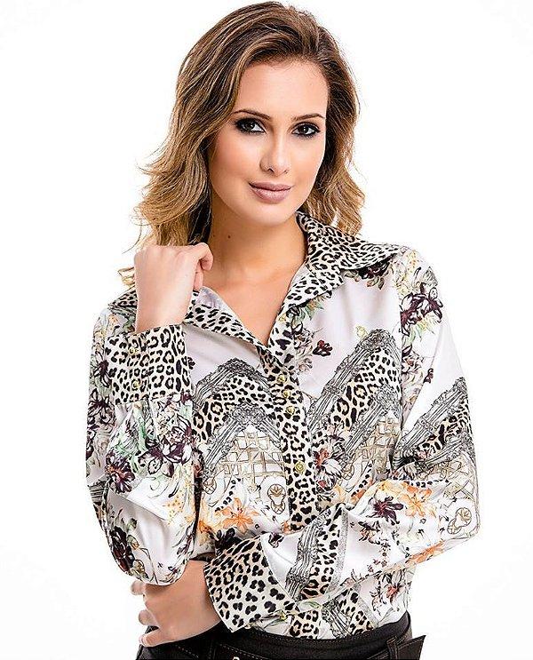 71156 - Camisa Glamour Estampada