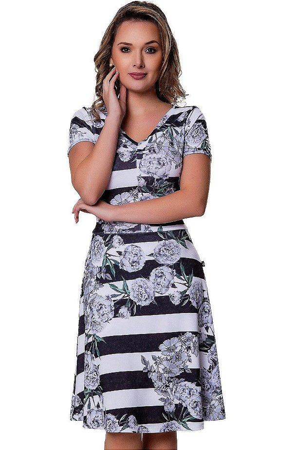50891 - Vestido Malha Crepe - Via Caruso