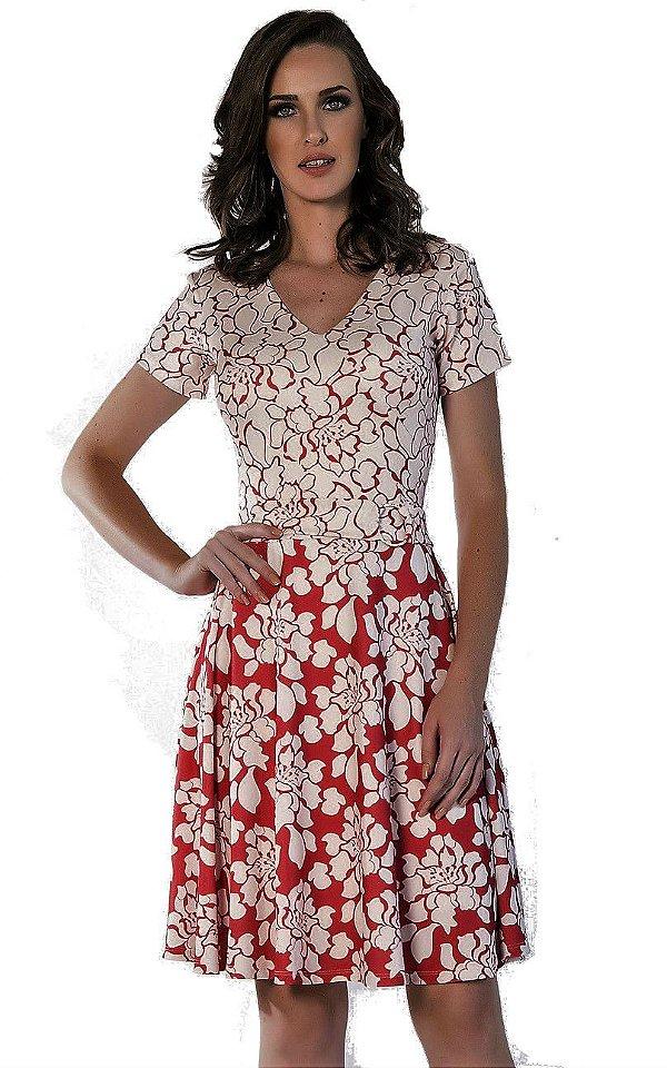 50836 - Vestido Malha Creponada - Via Caruso